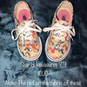 Disney Princess Vans Size 8